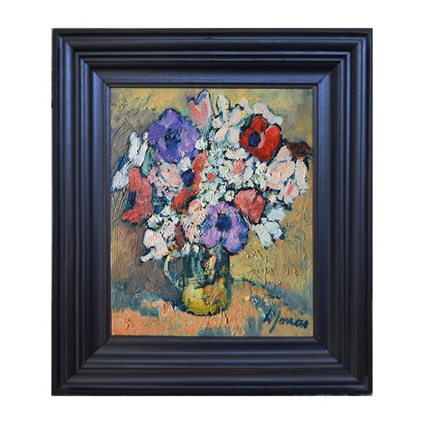 Image of Late 20thC, French Painting ,'Petit Bouquet d'Anémones,' Henri JONAS