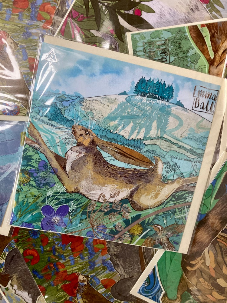 Image of May Hill Hare - Greetings Card