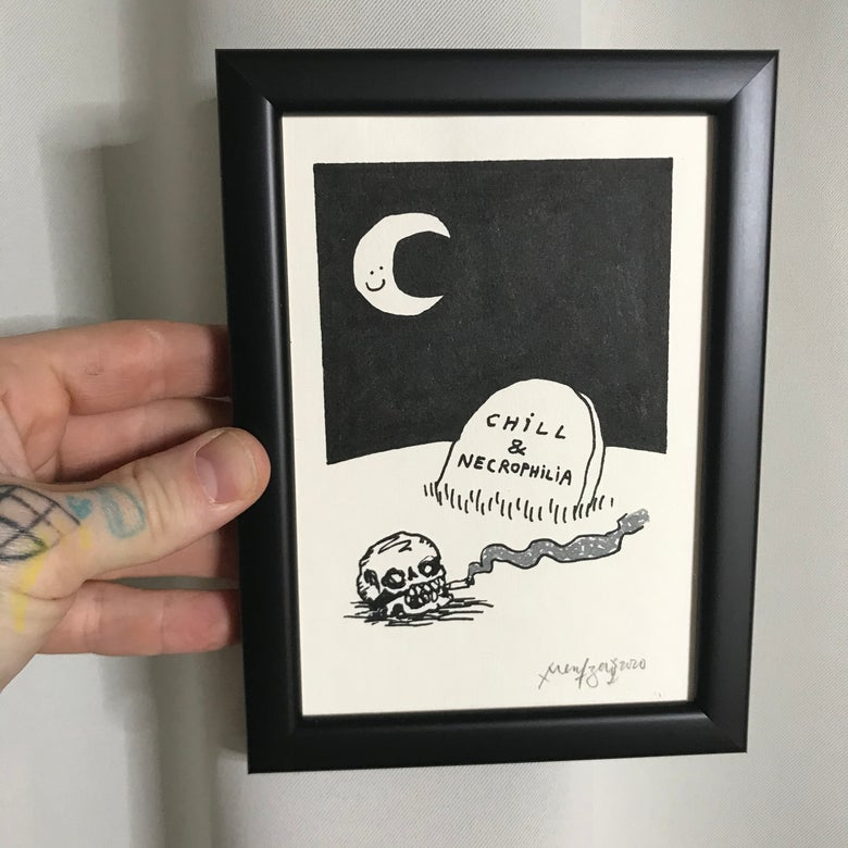 Image of Chill (Original Drawing w/ Frame)