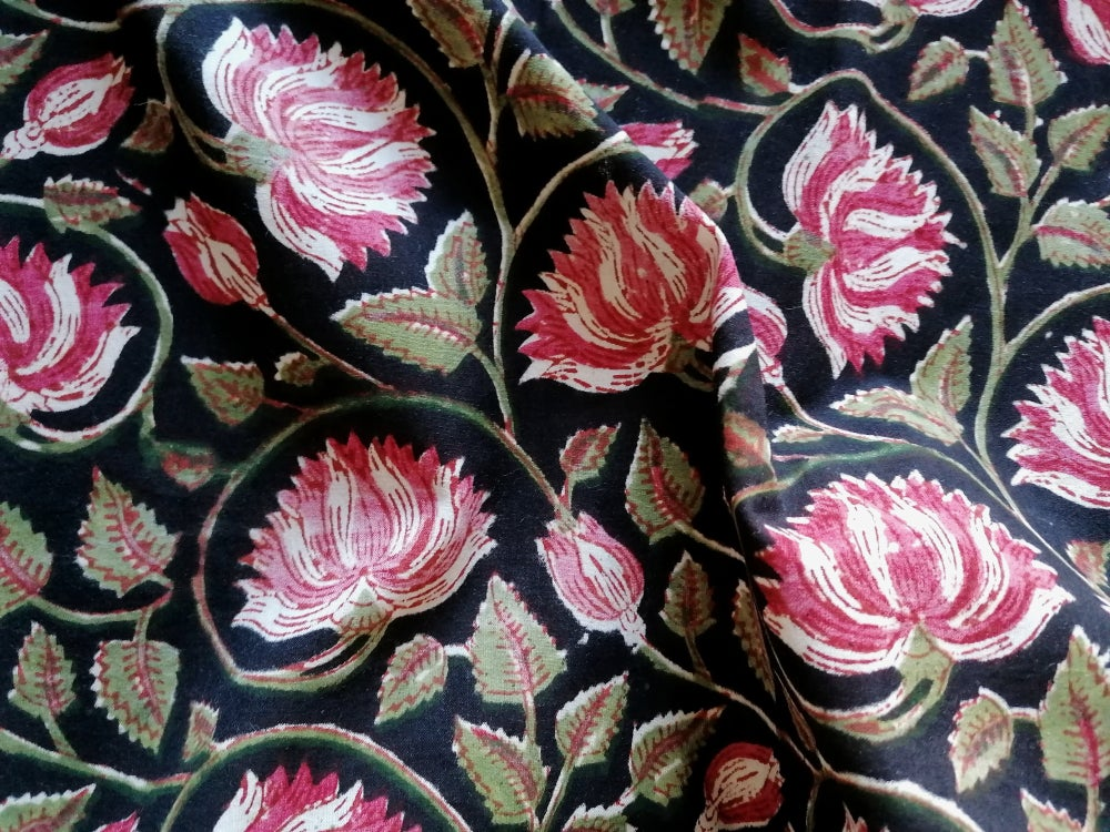 Image of Namasté fabric chrysanthèmes