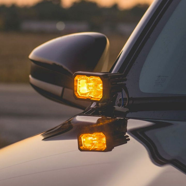 """Image of Diode Dynamics Stage Series 2"""" SAE/DOT White or Yellow Sport Standard LED Pods (Pairs)"""