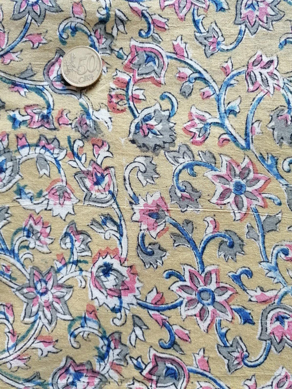Image of Namasté fabric kalamkari broussailles