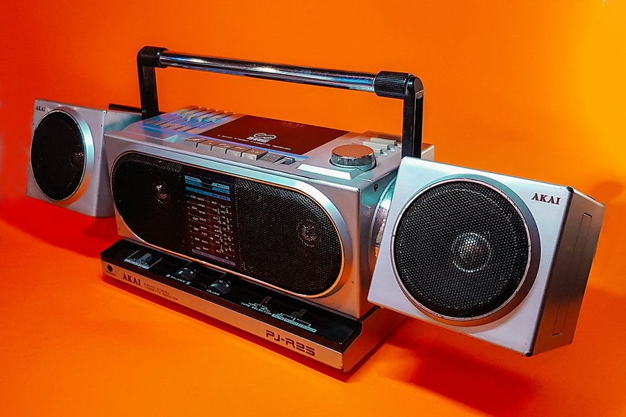 Image of AKAI PJ-R25 (1986) BLUETOOTH BOOMBOX