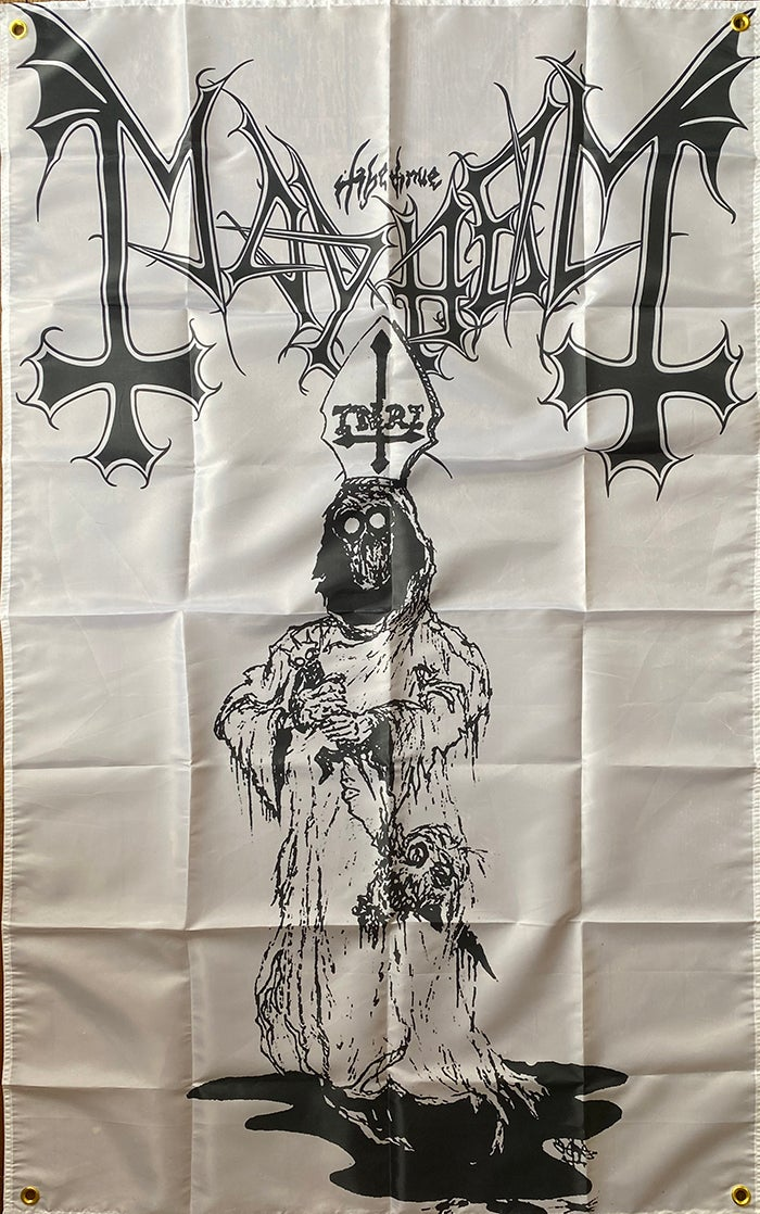 "Image of Mayhem "" Dead "" Artwork  - Flag / Banner / Tapestry"