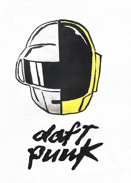 Image of DAFT PUNK drawing