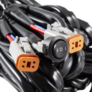 Image of Heavy Duty Dual Output 3-way 4-pin Wiring Harness