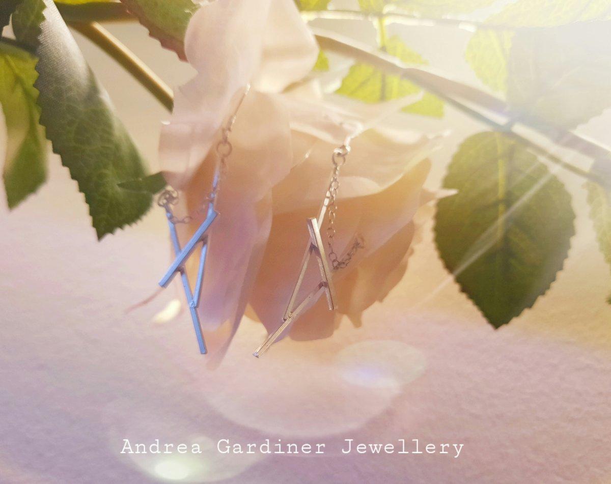 Image of Geometric Silver Earrings