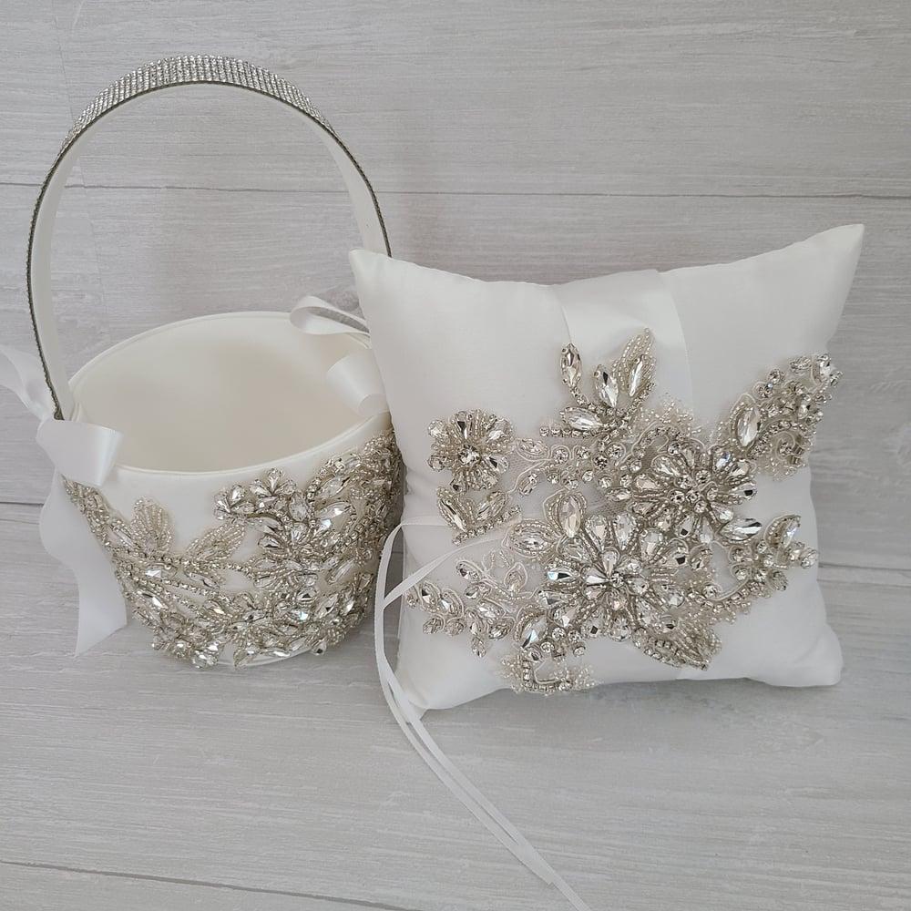 Ellie Flower Girl Basket and Pillow