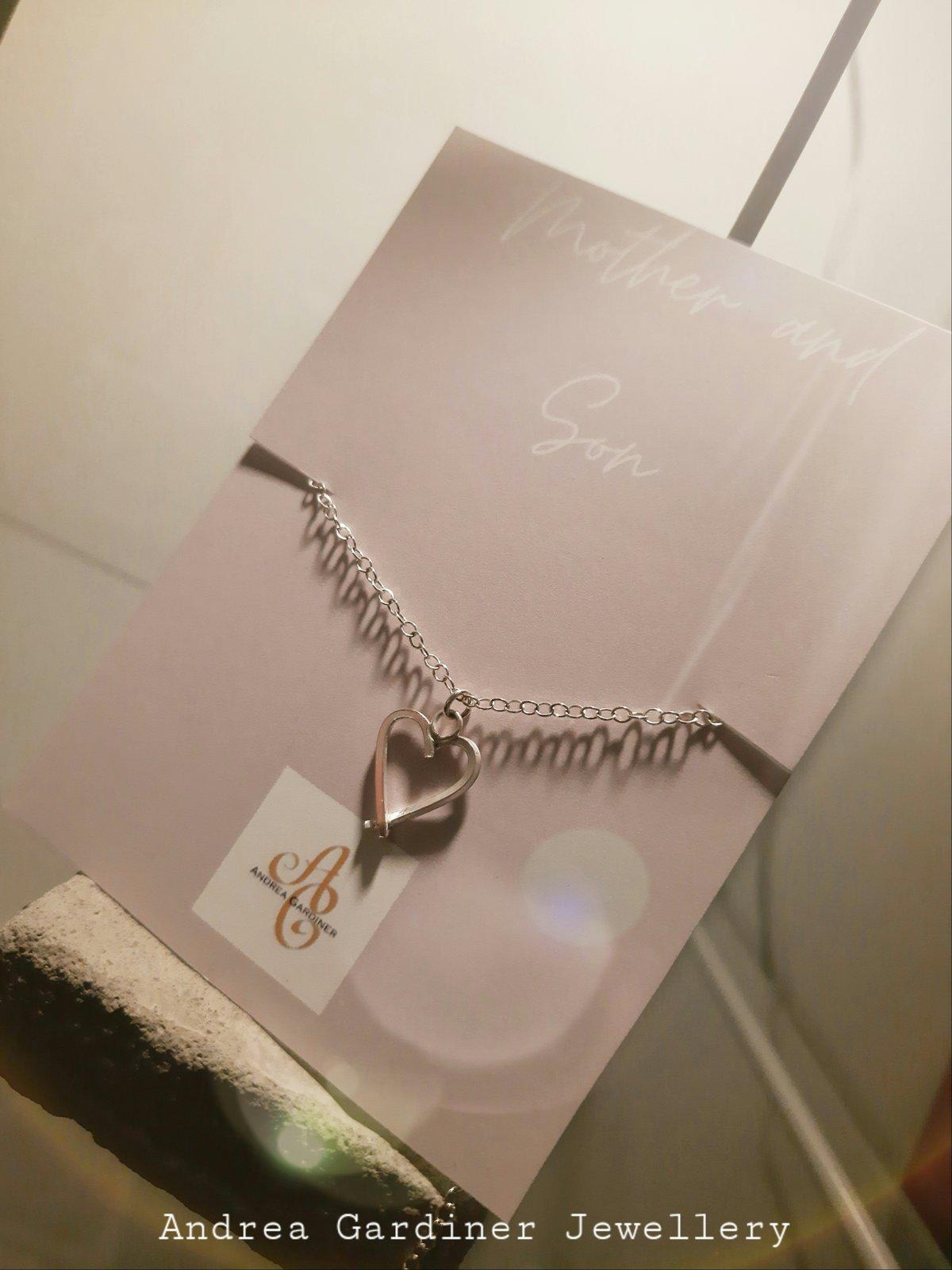 Image of Silver Heart Bracelet!