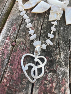 Image of Freshwater pearl bohemian necklace set