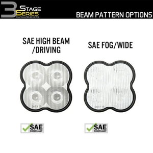 """Image of Diode Dynamics Stage Series 3"""" SAE/DOT White or Yellow Sport Standard LED Pods (Pairs)"""