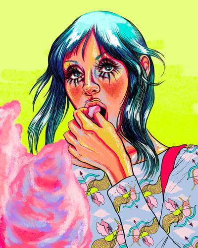 Image of HELLO IM SHELLEY DUVAL - Art Print