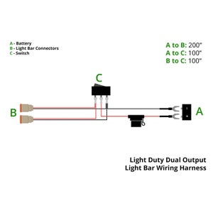 Image of Light Duty Dual Output Offroad Wiring Harness