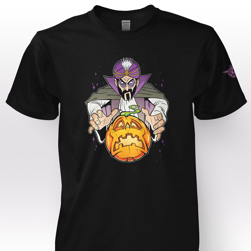 """Image of """"Fortune of the Zombie Pumpkins!"""" T-Shirt"""