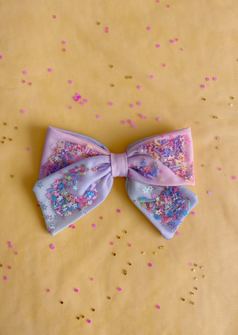 Image of Confetti Bow | Rainbow Magic