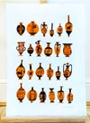 A3 Ancient Greek Vase' Original Illustrated Collage-Made to order
