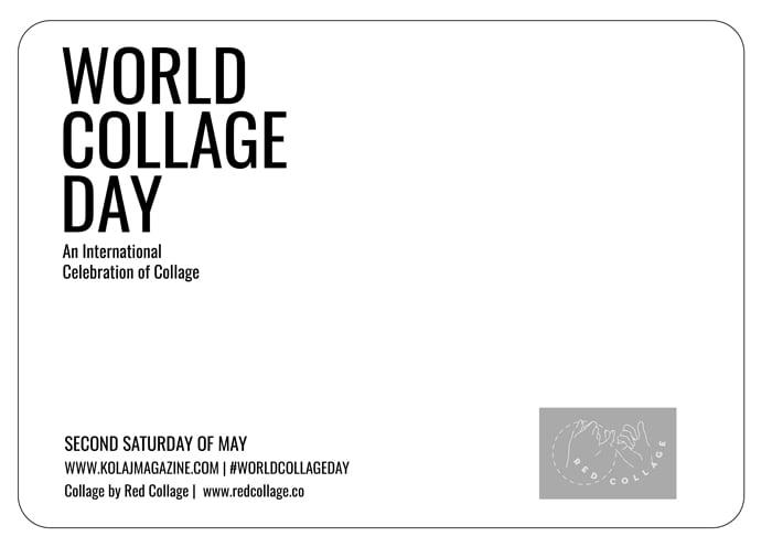 Image of World Collage Day 2021 Postcard Set