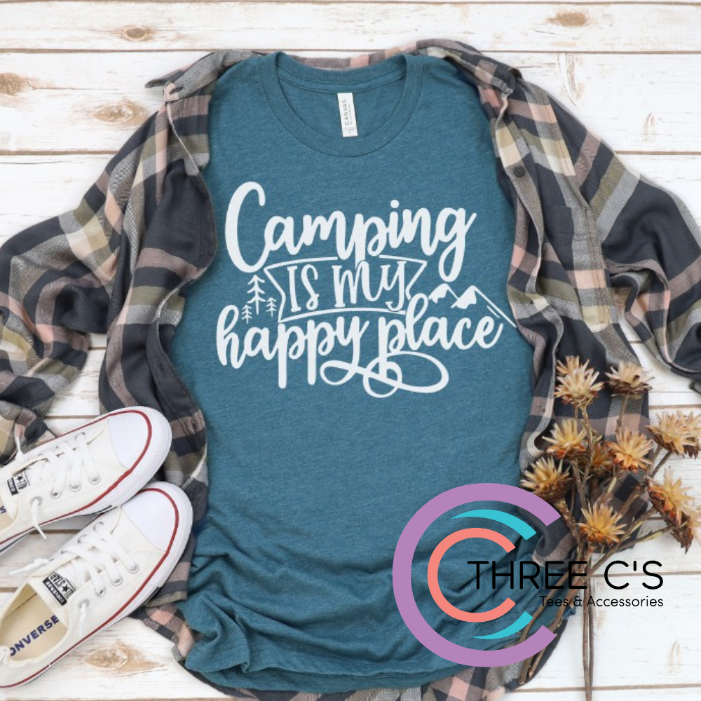 Image of Camping Is My Happy Place Tee