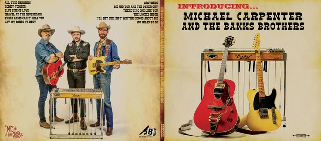 """CD (pre order) - Michael Carpenter and The Banks Brothers - """"Introducing...""""  (out March 19)"""