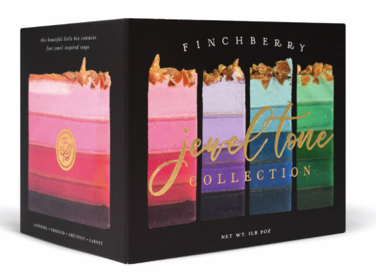 Image of Jewel Tone Soap Collection-4-Bar Gift Set