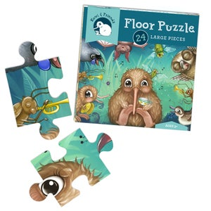 Kuwi's Rowdy Crowd Floor Puzzle- 24 Large Pieces