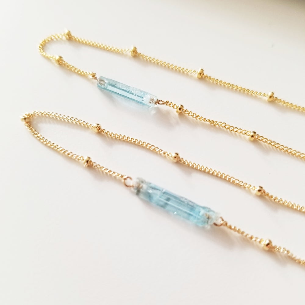 Image of Cool Blue Aquamarine Necklace