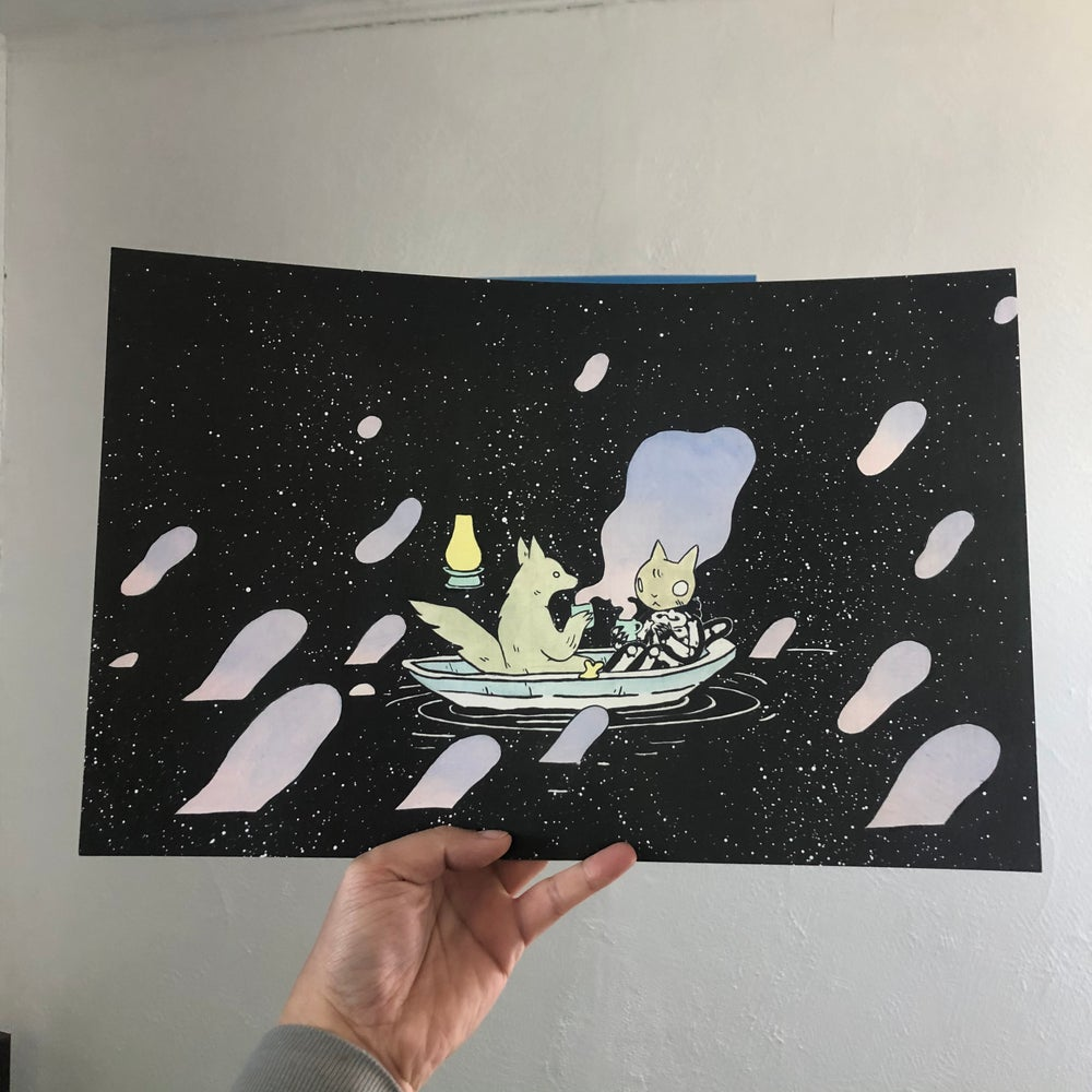 Image of Space Boat Poster