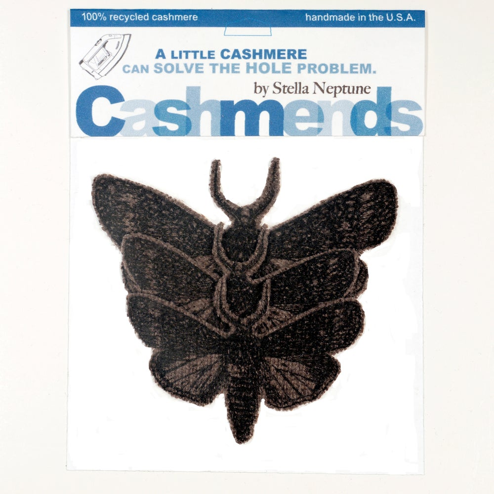 Image of IRON-ON CASHMERE MOTHS - BROWN
