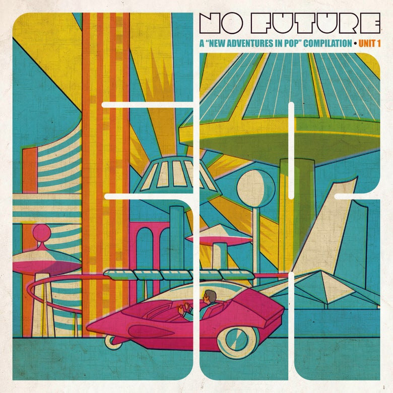"Image of VARIOUS ARTISTS - No Future: A New Adventures In Pop Comp (Magenta 12"" Double LP/MP3s)"