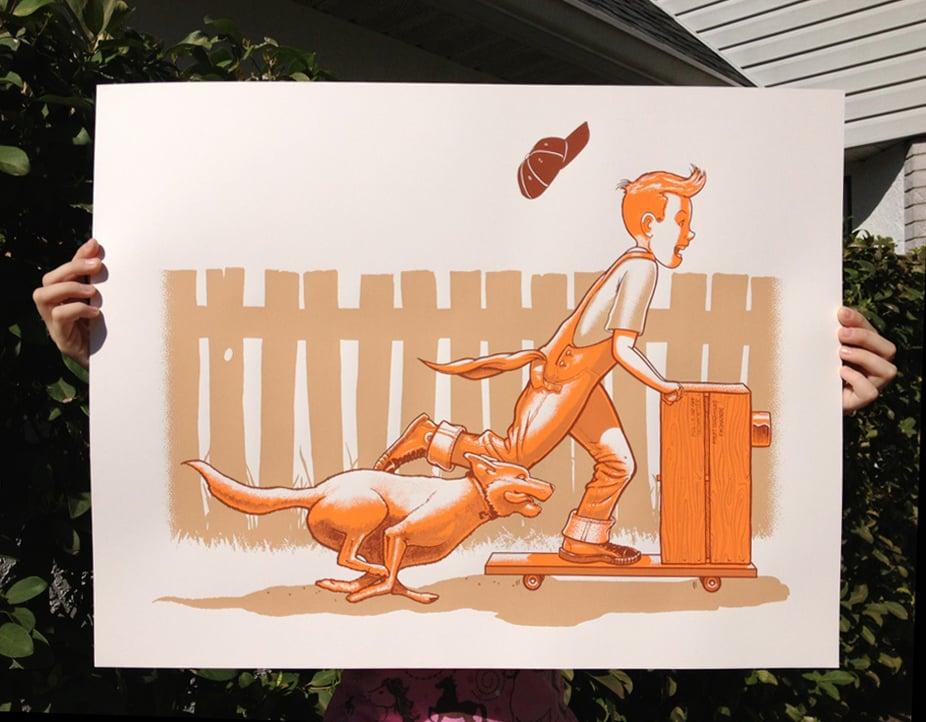 """Orange Crate Kid"" - Remember When series"