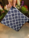 """""""Squared Up"""" blue tile with mesh"""