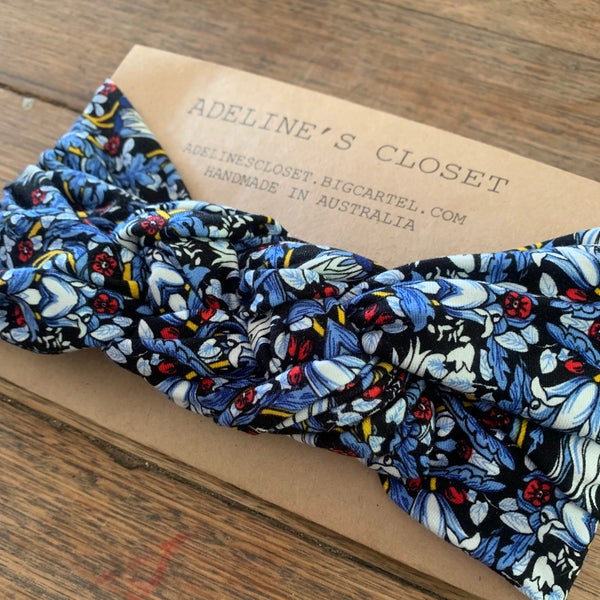 Image of Blue floral headwrap