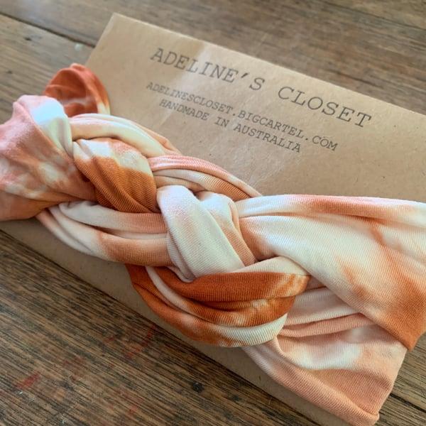 Image of Rust tie dye headwrap