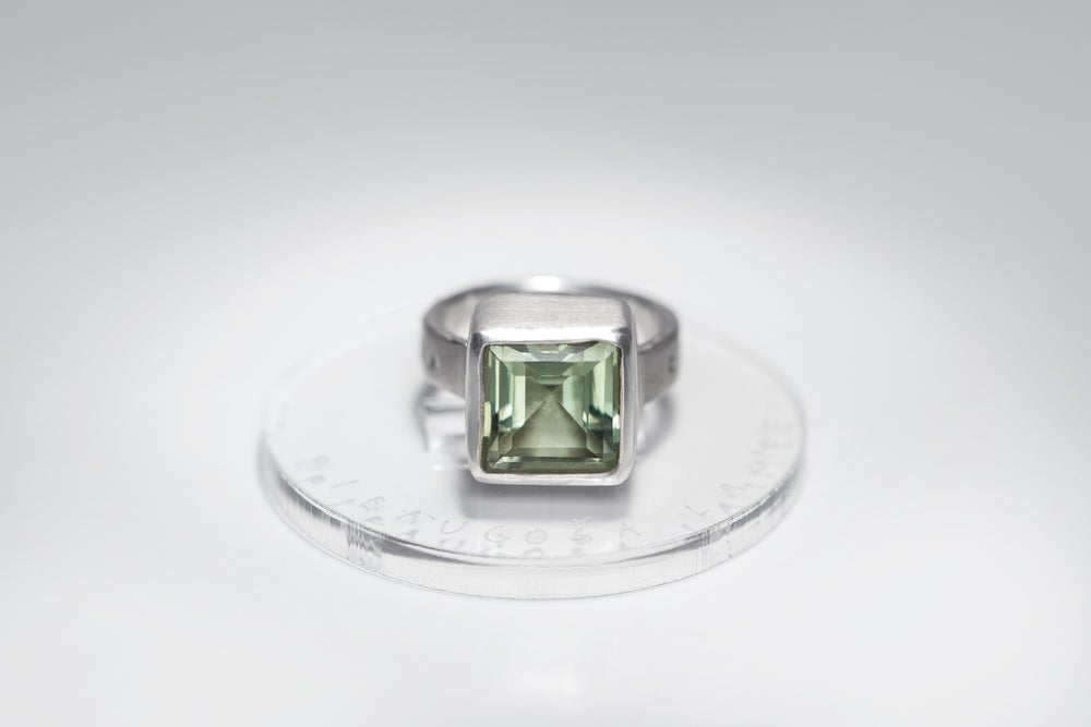 """Image of """"Growing happiness"""" silver ring with prasiolite · EXCITATA FORTUNA ·"""