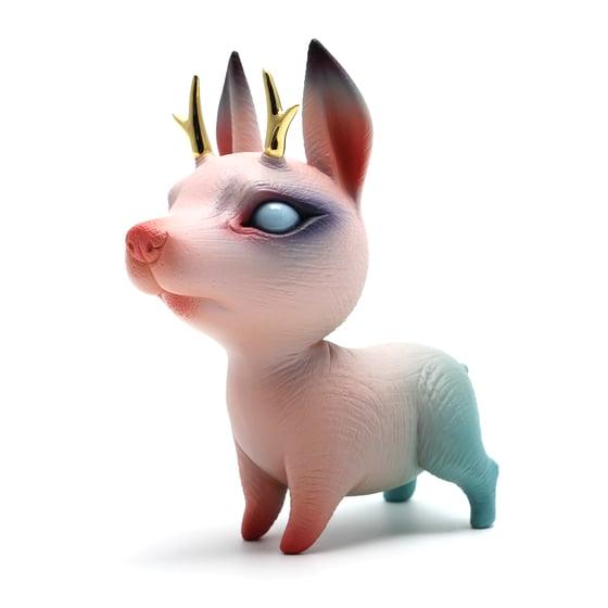 Image of Chikkoi Warrior (pink/gold horns/mini body)