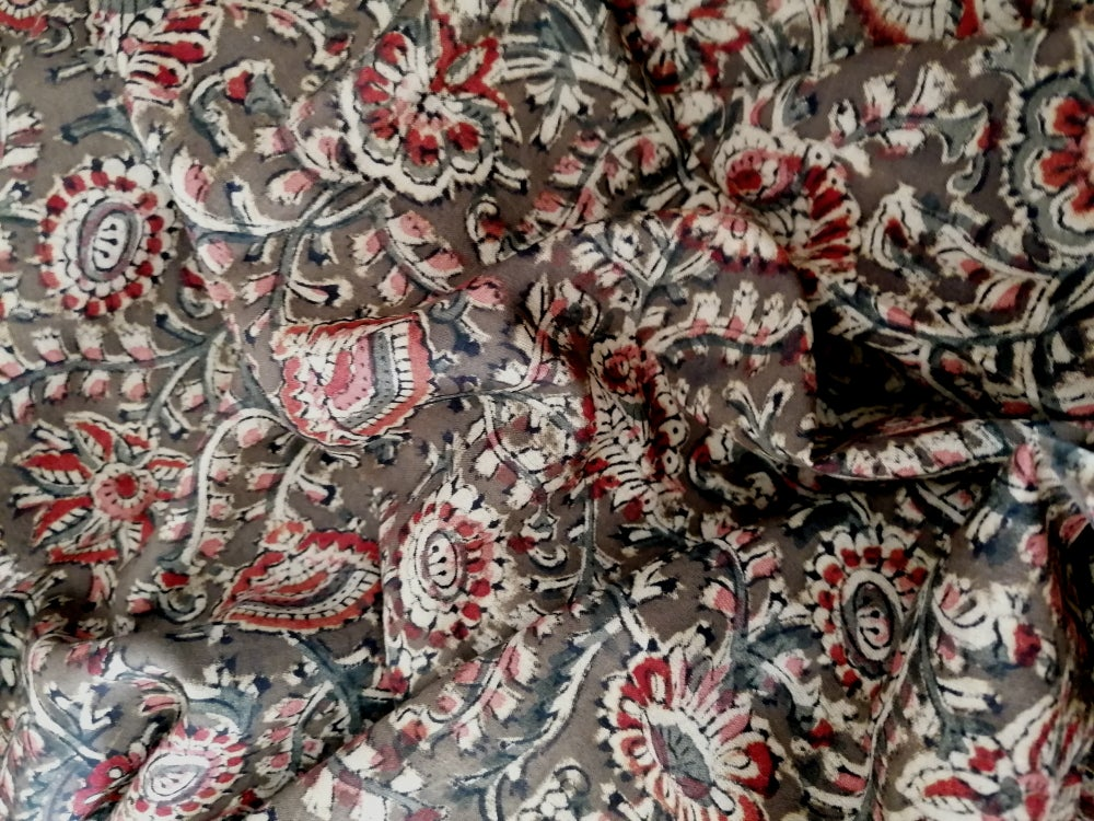 Image of Namasté fabric kaki arabesques