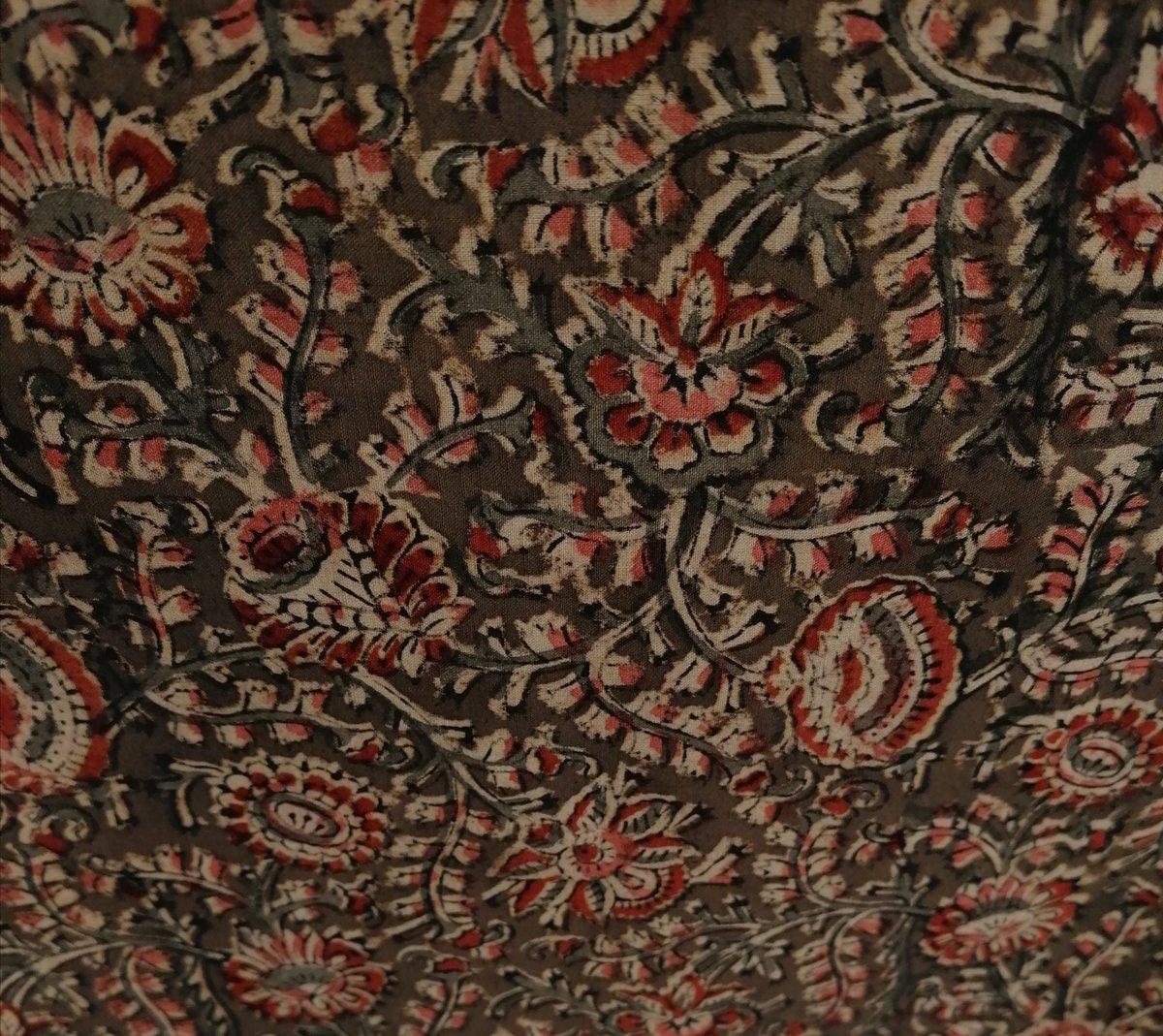 Image of Namasté fabric kaki arabesques