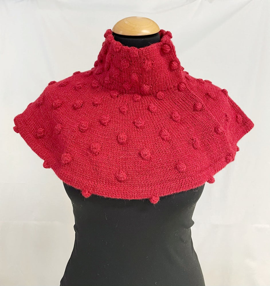 Image of Dots collar dark red