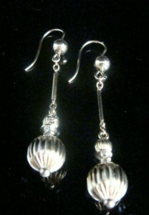 Image of ORIGINAL VICTORIAN 9CT YELLOW GOLD LARGE DROP BALL EARRINGS