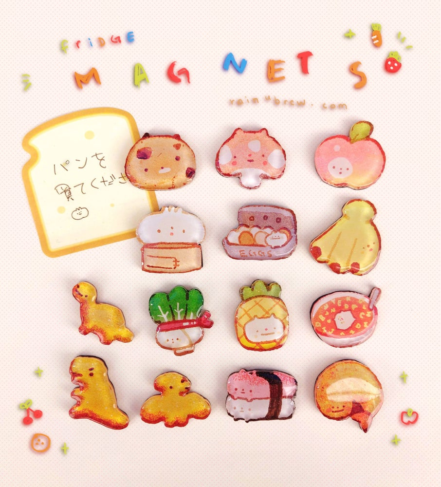 "Image of Kawaii Food | 1.25"" Refridgerator Kitchen Magnets"