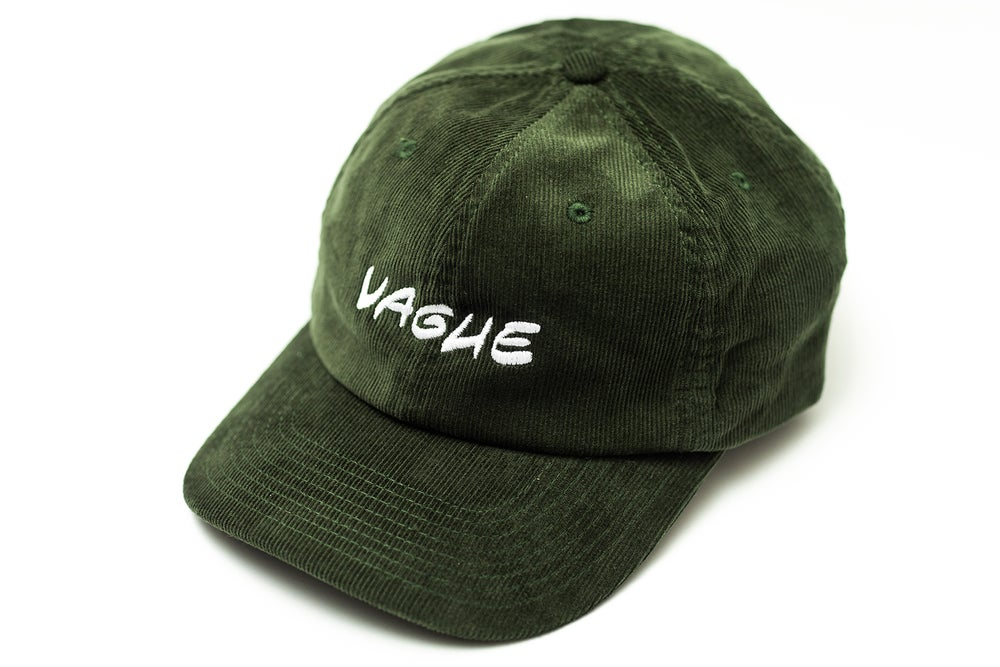 Image of Vague x Serious Adult Cord Hat - Dark Olive