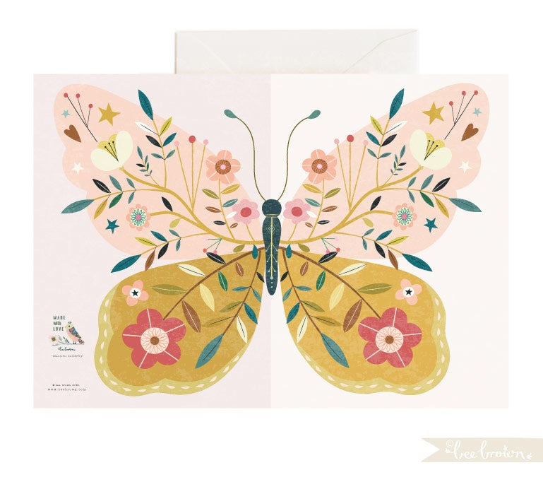 Beautiful Butterfly - Fold Out Card