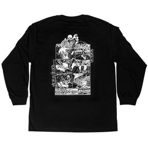 Image of Vague x Lizzie Heath - Greetings From Stockwell - Longsleeve T-shirt - Black