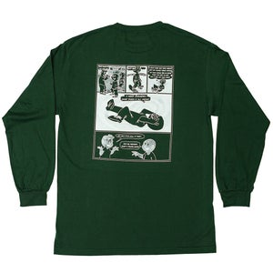 Image of Vague x Serious Adult - Skate Phrases Longsleeve T-shirt - Forest Green.