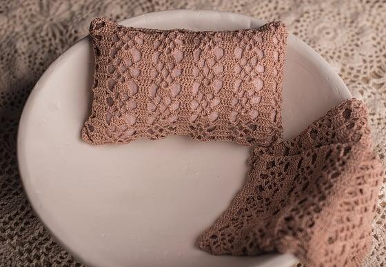 Image of PAULA - pillow case, chrochet pillow cover
