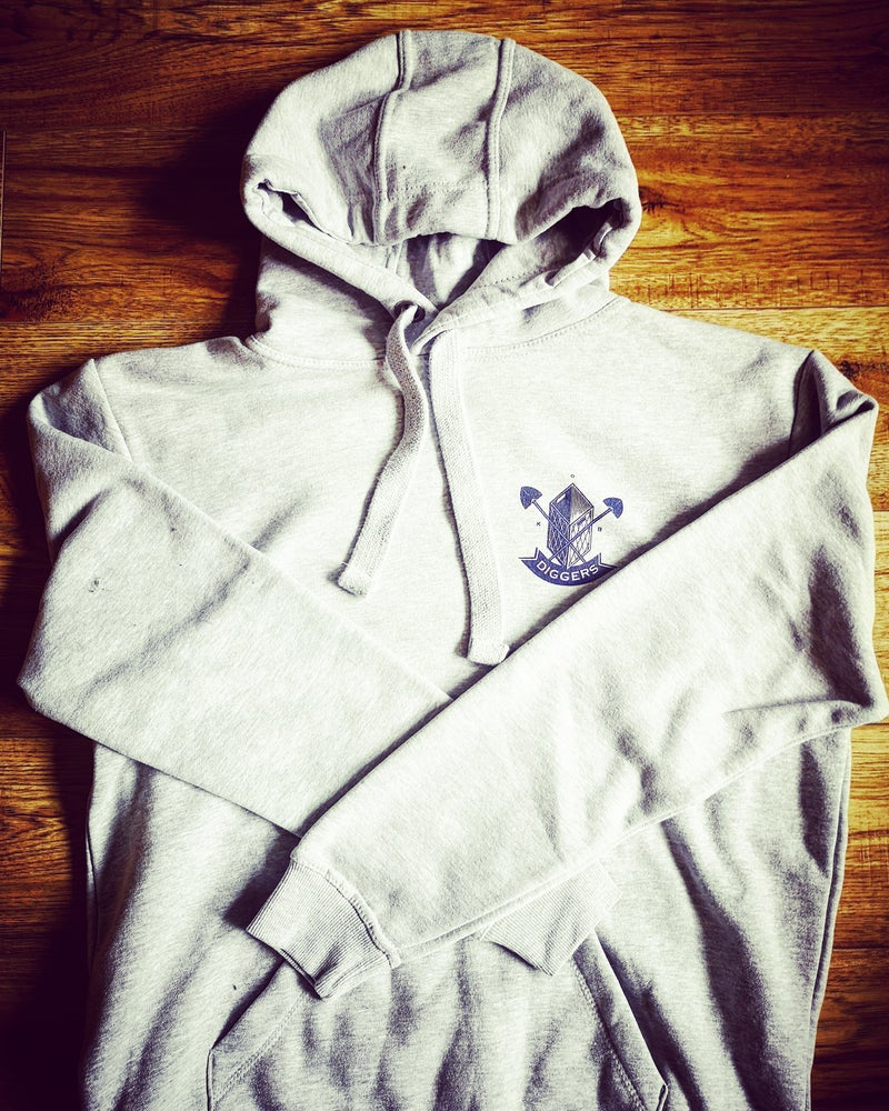 Image of NEW DIGGERS PREMIUM HOODIE GREY PRE ORDER SHIPPING 20.03.21