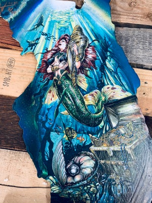 Image of Florida Mermaid (Hand Painted Reproduction)