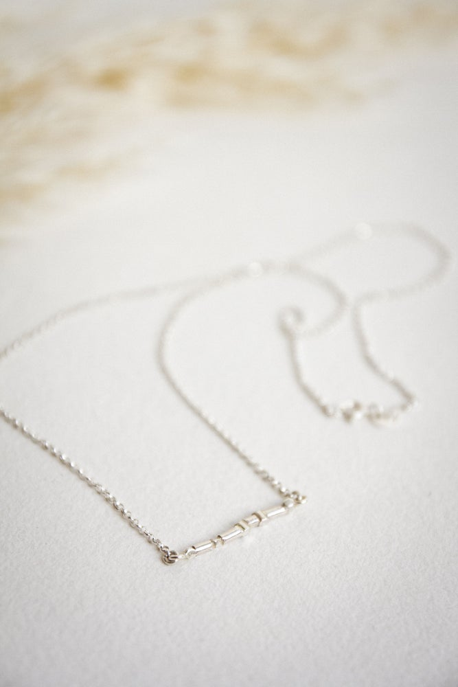 Image of Nerth- Strength  Collection . Bar necklace