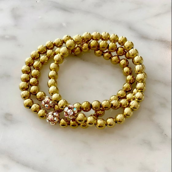 Image of Disco Ball Brass Bracelet