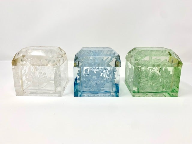 Image of Jumbo Mini Lucite Boxes (pale colors)